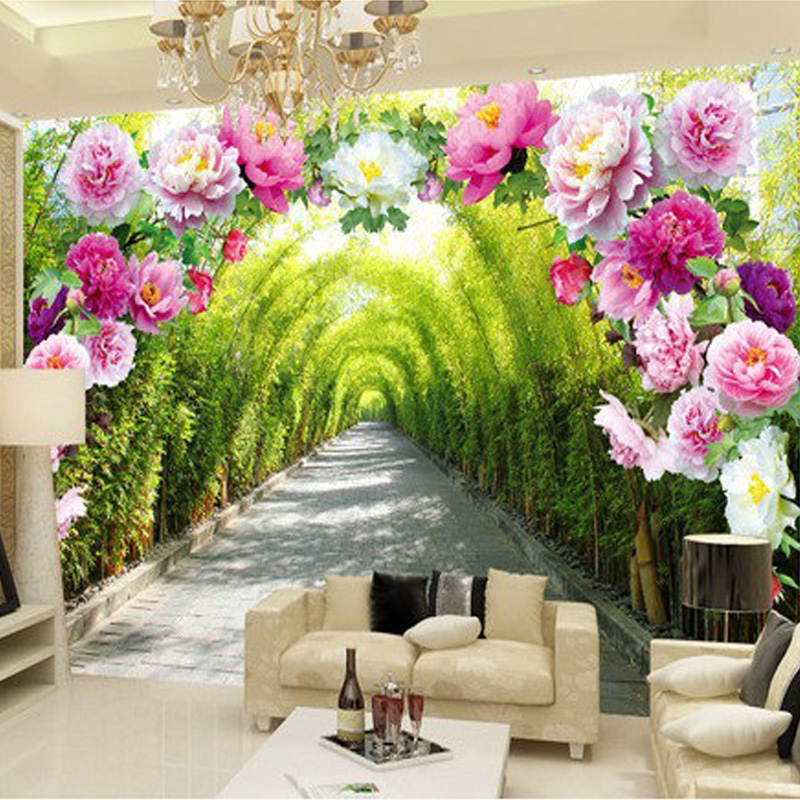 Beibehang custom 3d mural wallpaper livingroom bedroom - Flower wallpaper mural ...