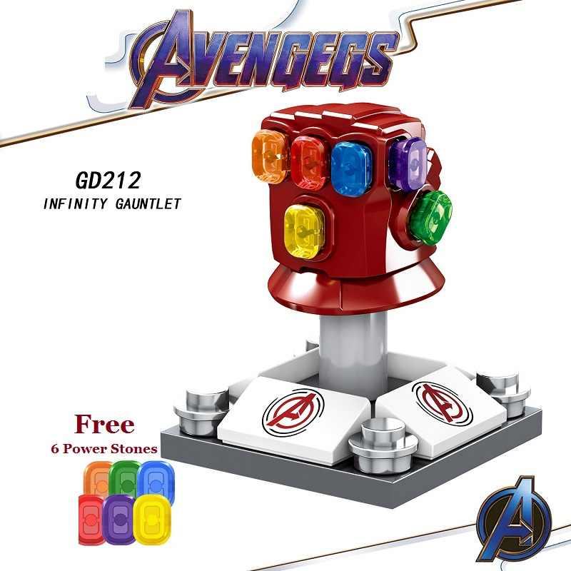 LegoING アベンジャーズ 4 Endgame Thanos さん無限大ガントレットアイアンマンマーベルビルディングブロックアクションフィギュアモデルの子供のギフトのおもちゃ