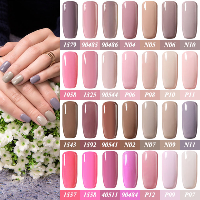Pink Nail Polish Top Coat: Belle Fille Beige Pink Nude Nail Gel Polish Holographic