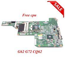 NOKOTION 615849-001 605903-001 Материнская плата ноутбука для hp G62 G72 CQ62 HM55 HD GMA DDR3 основная плата процессор