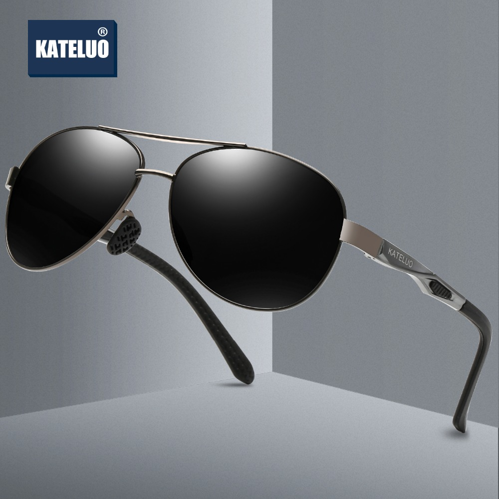 KATELUO Men's Sunglasses Brand Designer Pilot Polarized Male Sun Glasses Eyeglasses gafas oculos de sol masculino For Men 7753
