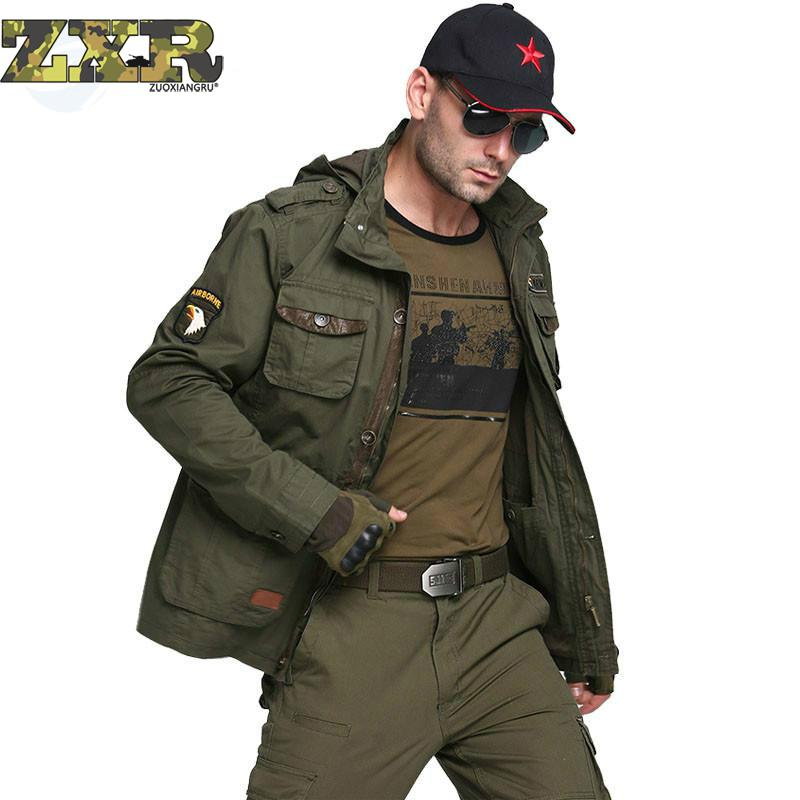 Force Bomber Army Tactical Jackets Men Winter Autumn Combat Multi Pocket Coat Hoodies Windbreakers Military Sport Fleece Jacket ws715 men s autumn winter wear multi pocket polyester slim jacket deep blue yellow l