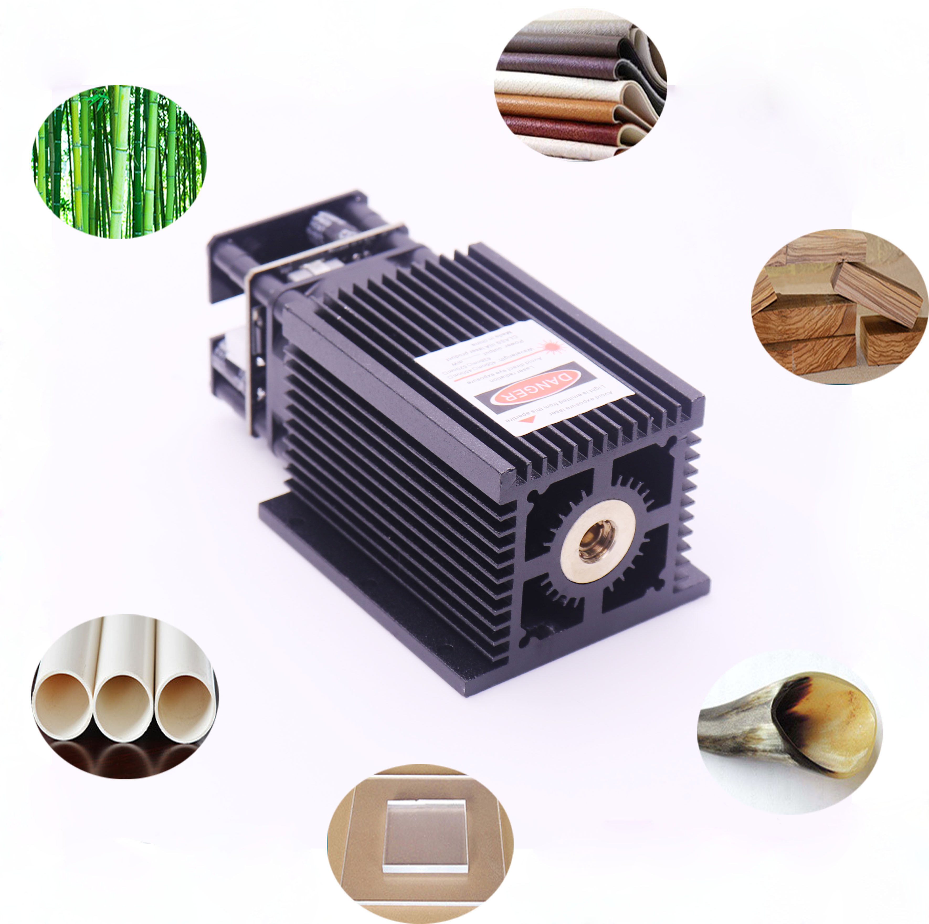 5500mW / 7 W / 10 W 450nm Blue-violet Light Laser Head For DIY Carving Engraving Machine Engraver Accessory