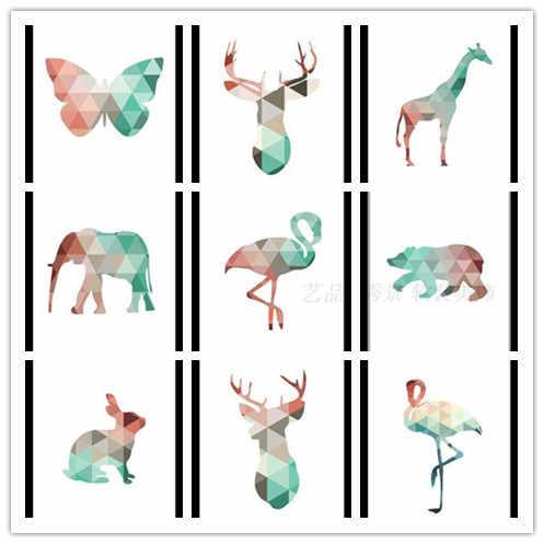 Геометрические Животные модульные картины художественные принты плакат Настенная картина холст картина без рамы для гостиной домашний декор YP