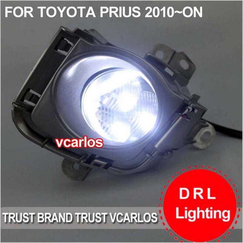 ФОТО Hireno Car Fog lights Lamp Cable Harness LED light switch control Set for Toyota PRIUS 2010 2Pcs