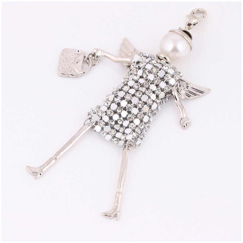 Chenlege bonito cristal chaveiro strass bolsa feminina charme chaveiro chaveiro chaveiro do carro pingente atacado