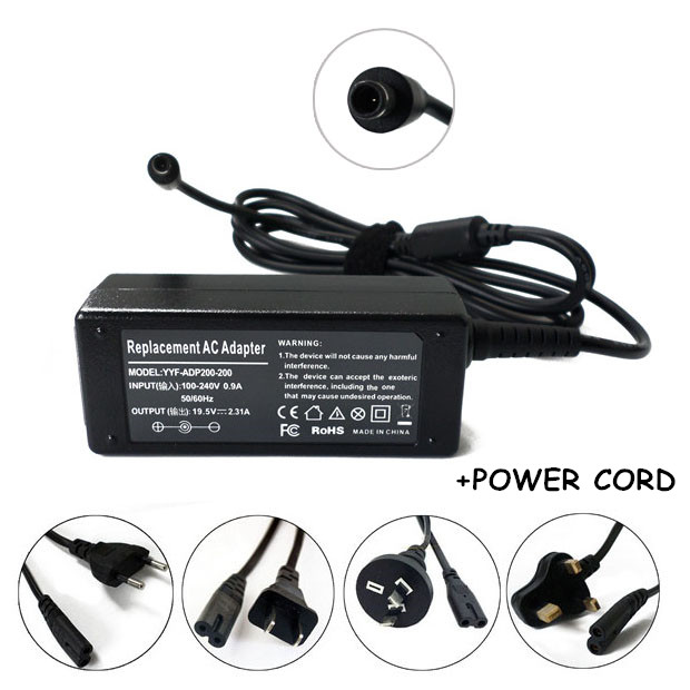 Laptop Power Supply 19.5V 2.31A New Netbook AC Adapter Charger For Computer Dell Inspiron 15-3552 Inspiron 14-5452 P46G
