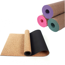 3MM/4MM/5MM/6MM/8MM Sports Yoga Mat TPE Cork Fitness Non-slip Eco-friendly Slip-resistant Hot Yoga Mats Exercise Pilates Workout 1 pc fangcan tpe single layer standard yoga mat skin friendly non toxic and environmentally friendly