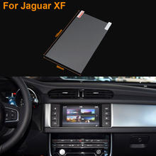 Car Styling 7 Inch GPS Navigation Screen Steel Protective Film For Jaguar XF Control of LCD Screen Car Sticker