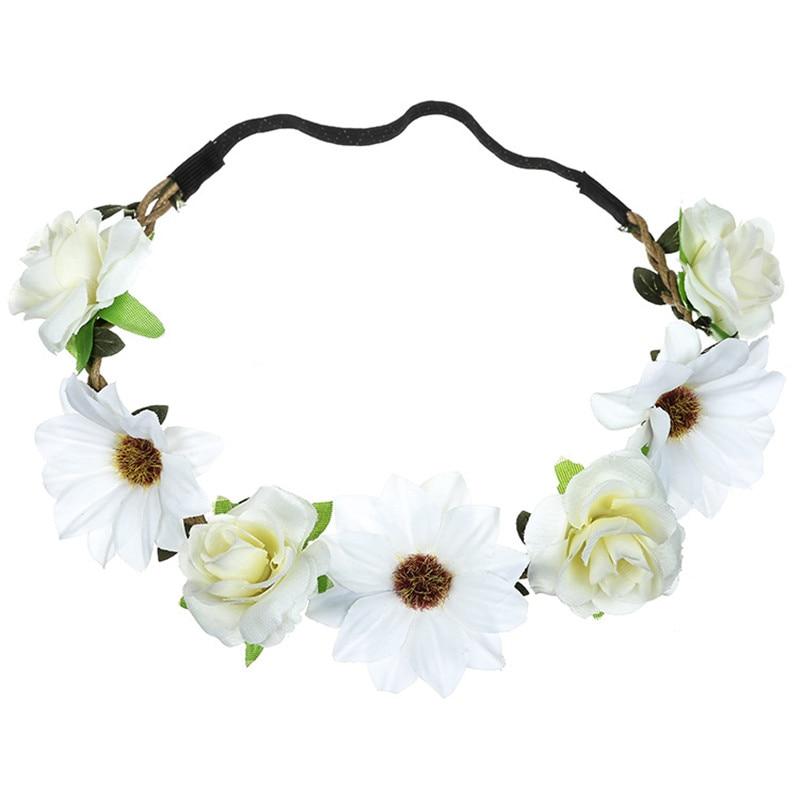 2019 Girls Women Handmade Gradient Rose Flower Wreath Vintage Crown AMOZAE Garland Halo Festival Hair Floral Headband Headpiece in Women 39 s Hair Accessories from Apparel Accessories
