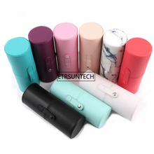 10pcs Empty Brush Holder Tube Portable Travel Makeup Brushes Cylinder Holder Cosmetic Organizer PU Leather Storage Container