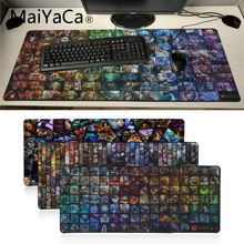 лучшая цена Maiyaca Heroes Dota 2 DIY Design Pattern Game mousepad Laptop PC Computer gaming Mat Large mouse pad gaming pad mouse for lol cs