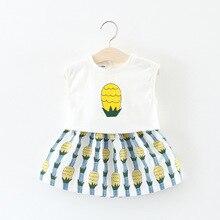 Babykleidung 2018 Sommer Infant Set Baumwolle Ananas Gedruckt Sleeveless Mädchen Weste + Rock Baby Set Mode Baby Mädchen Kleidung