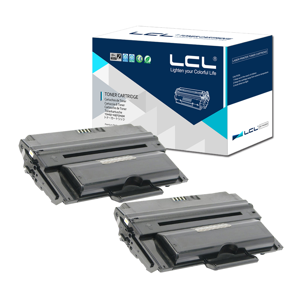 LCL 330-2209 2335 6000 Pages (2-Pack Black) Toner Cartridge Compatible for Dell 2335DN cs s1710 bk compatible toner cartridge for samsung ml1710d3 ml1710 ml1410 ml1500 ml1510 ml1740 ml1750 3k pages free fedex