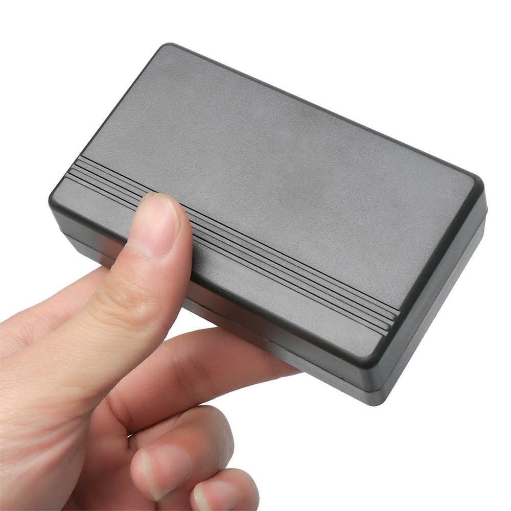 1 Pza de plástico impermeable cubierta negro DIY caja de instrumento de plástico caja de proyecto electrónico suministros eléctricos de alta calidad
