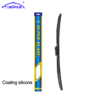CLWIPER Super Coated Silicone Windshield Wiper Blade For Volvo XC70,XC90,S60,S80,V70 Fit Pinch Tab Car Glass Cleaning 24