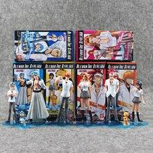 8pcs/lot Bleach Kurosaki Ichigo Kuchiki Rukia Aizen Sousuke Hitsugaya Toushirou pvc figure toy