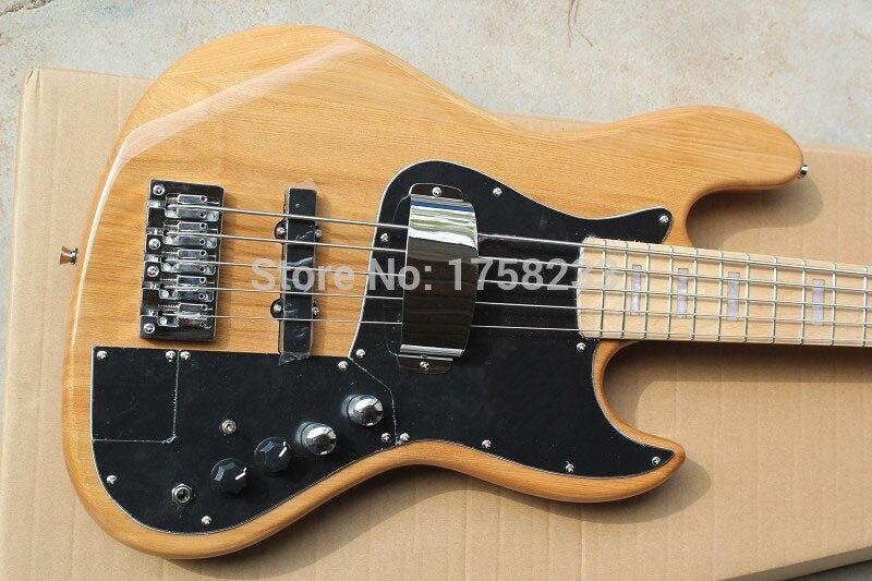 . Livraison Gratuite Vente Chaude de Haute Qualité F Marcus Miller Jazz Bass Signature 5 Cordes Couleur Naturelle Guitare Basse En Stock