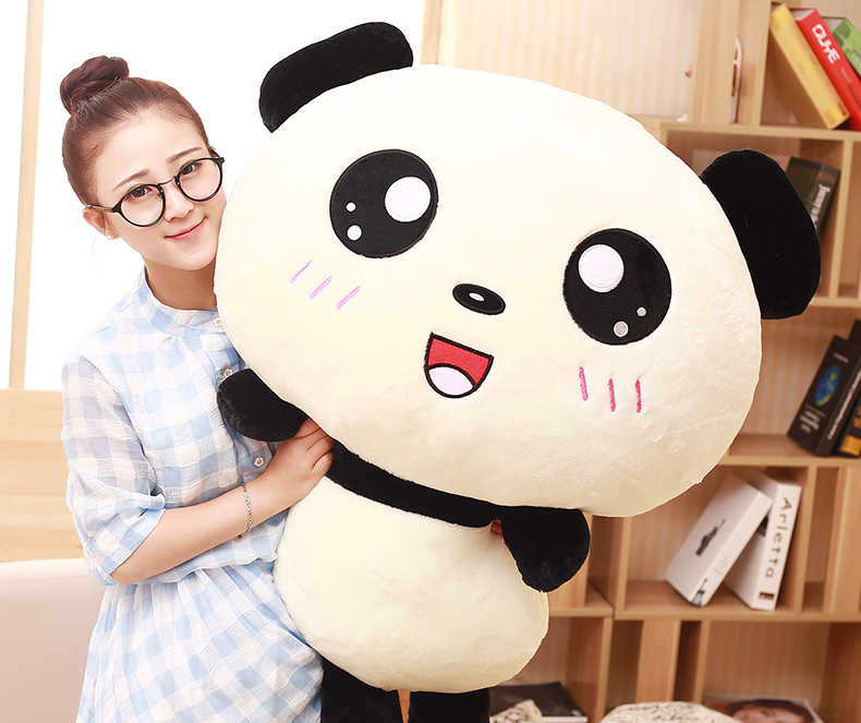 stuffed toy huge 110cm panda plush toy lovely expression panda doll soft hug pillow birthday gift