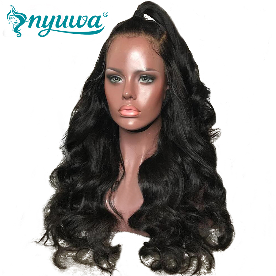 Elva Hair Lace Front Human Hair Wigs For Black Women Body Wave Brazilian Remy Hair Wigs Pre Plucked With Baby Hair Natural Color