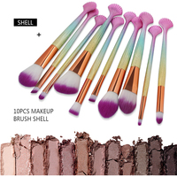 MAANGE Professional 10Pcs Makeup Brushes Foundation Powder Eyeshadow Eyeliner Lip Brush Set Cosmetic Beauty Cosmetic Tools