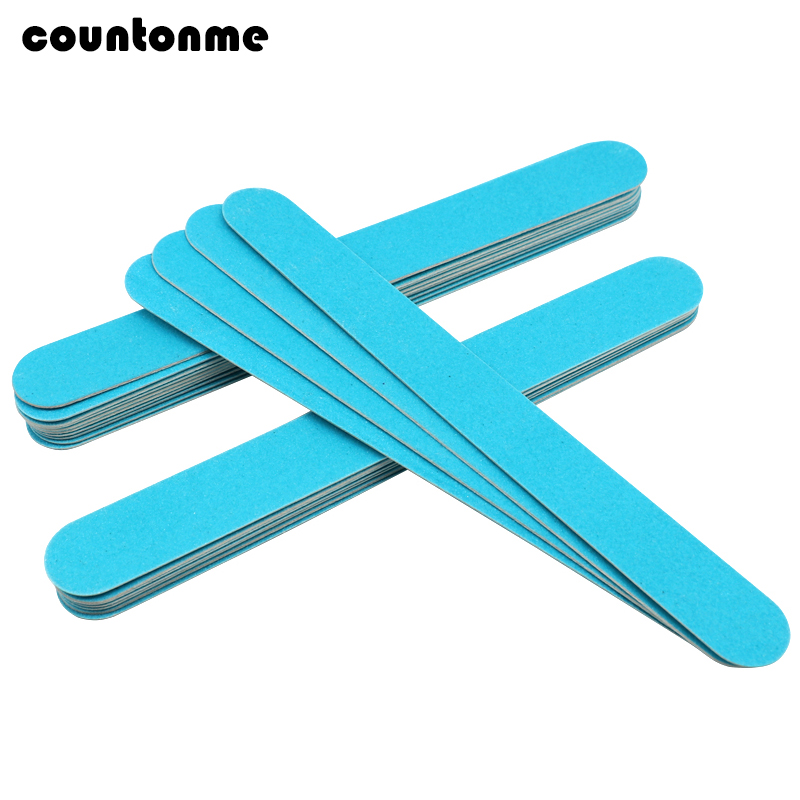 10PCS Blue Disposable Wooden Nail File Manicure Sandpaper Polishing Professional Nail Files 180/240 Thin Nail Art Manicure Tool