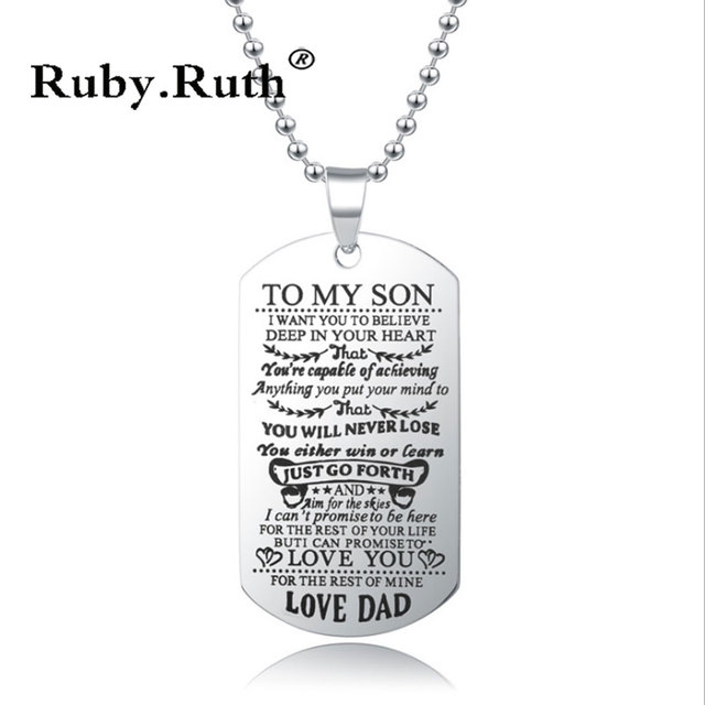 To My Son Daughter I Want You To Believe Love Dad Mom Pendant Family Necklace Jewelry