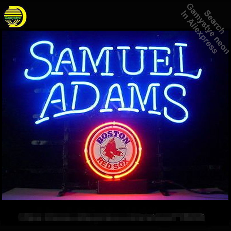 Neon Sign Sports Team BRS SAMUEL DAMS Neon Bulbs Sign BOSTON Beer Bar Pub Neon Tube Sign handcraft Publicidad Sign board