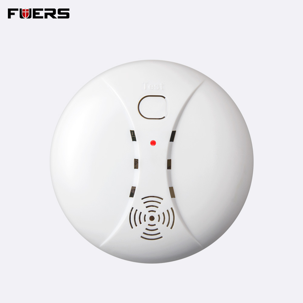 FUERS High Sensitive Wireless Independent Smoke Fire Detector Home Security Low Battery Reminder ASK Alarm Sensors Detectors
