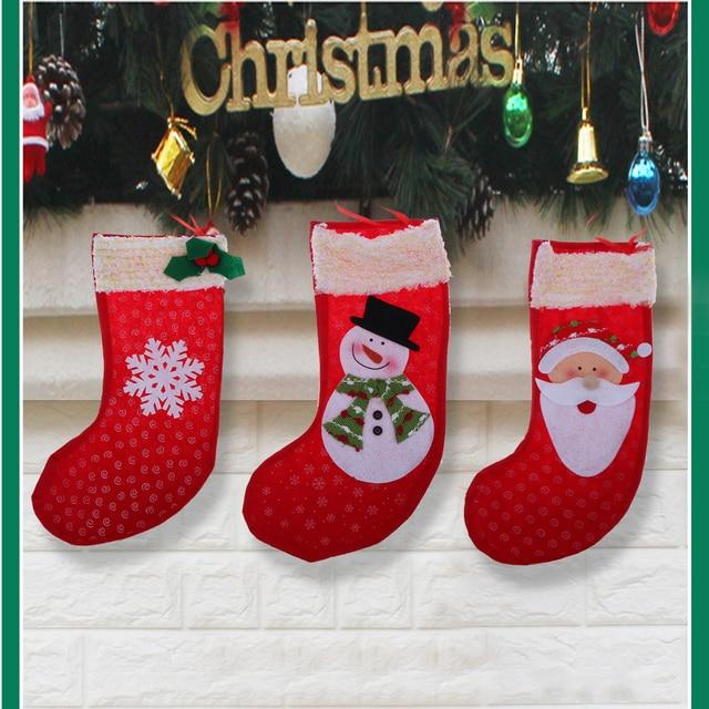 Aliexpress.com : Buy Christmas Stockings Socks Santa Claus Candy ...