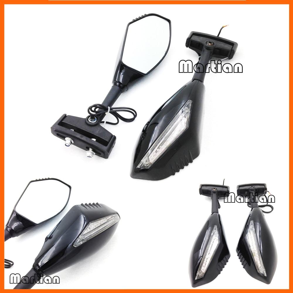 Motorcycle gloves gsxr - Motorcycle Partsled Turn Signal Integrated Mirror Gsx R Gsxr 600 750 Hayabusa Gloss Bkc