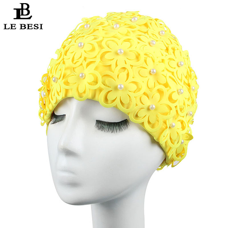 Enthusiastic Lebesi 2017 New Colorful Women's Swimming Cap Cover Ear Flower Swim Pool Hat Elastic Swim Cap Plus Size Bathing Cap Quell Summer Thirst