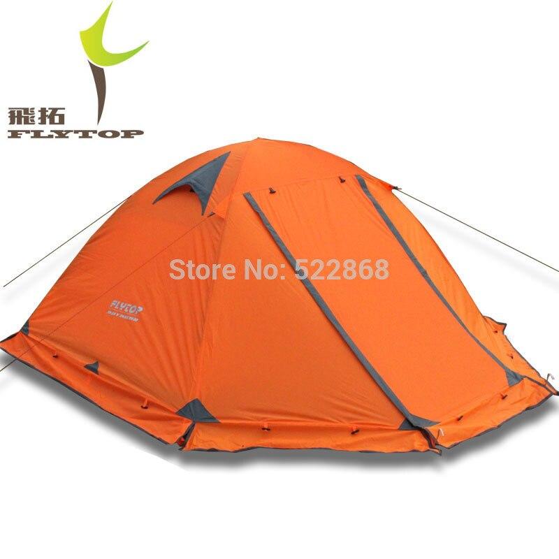 Bonne qualité Flytop double couche 2 personne 4 saison en aluminium tige en plein air camping tente Topwind 2 PLUS avec jupe de neige