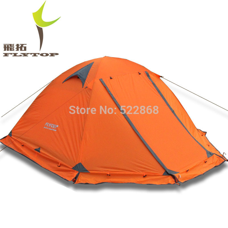Good quality Flytop double layer 2 person 4 season aluminum rod outdoor camping tent Topwind 2 PLUS with snow skirt waterproof tourist tents 2 person outdoor camping equipment double layer dome aluminum pole camping tent with snow skirt