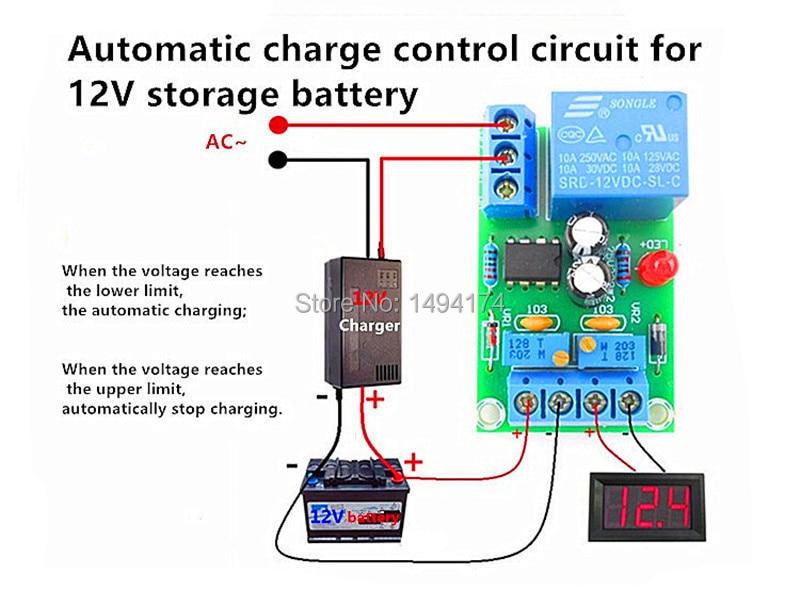 Apagado automático Interruptor de batería de 12 V CC de bajo Voltaje Apagado Controlador de Apagado Control de protección de bajo Voltaje
