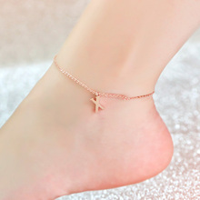 Custom Letter Anklet Dangle Initial Anklet Personalized Women Jewelry BFF Gift