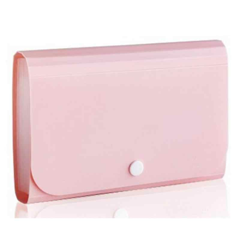 1pc Plastic Candy Color Document Bag File Folder Expanding Wallet Bill Folder Small Size 17 8 11 5 2 5cm