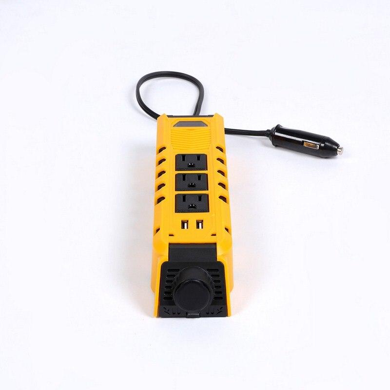 12V To 110V 300W Car Inverter 3 Ports US Socket 60Hz 2 USB Auto Power Inverter Converter With Car Adapter
