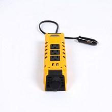 12V to 110V 300W Car Inverter 3 Ports US Socket 60Hz 2 USB Auto Power Converter with Adapter