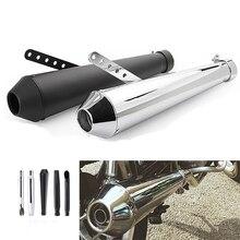 Universal รถจักรยานยนต์ Cafe RACER ท่อไอเสียท่อหางหลอด Silencer สำหรับ Harley Bobbers Honda CRF230F CRF150F