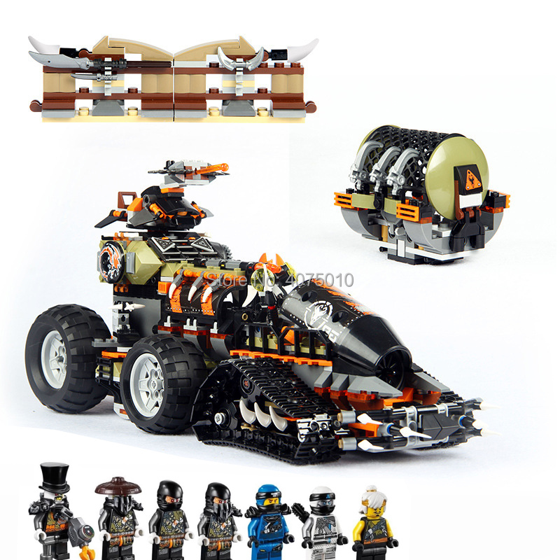 Compatible Legoinglys NinjagoINGlys Dieselnaut 1320pcs 70654 Ninja Figures Blocks Bricks Education toys for children gift