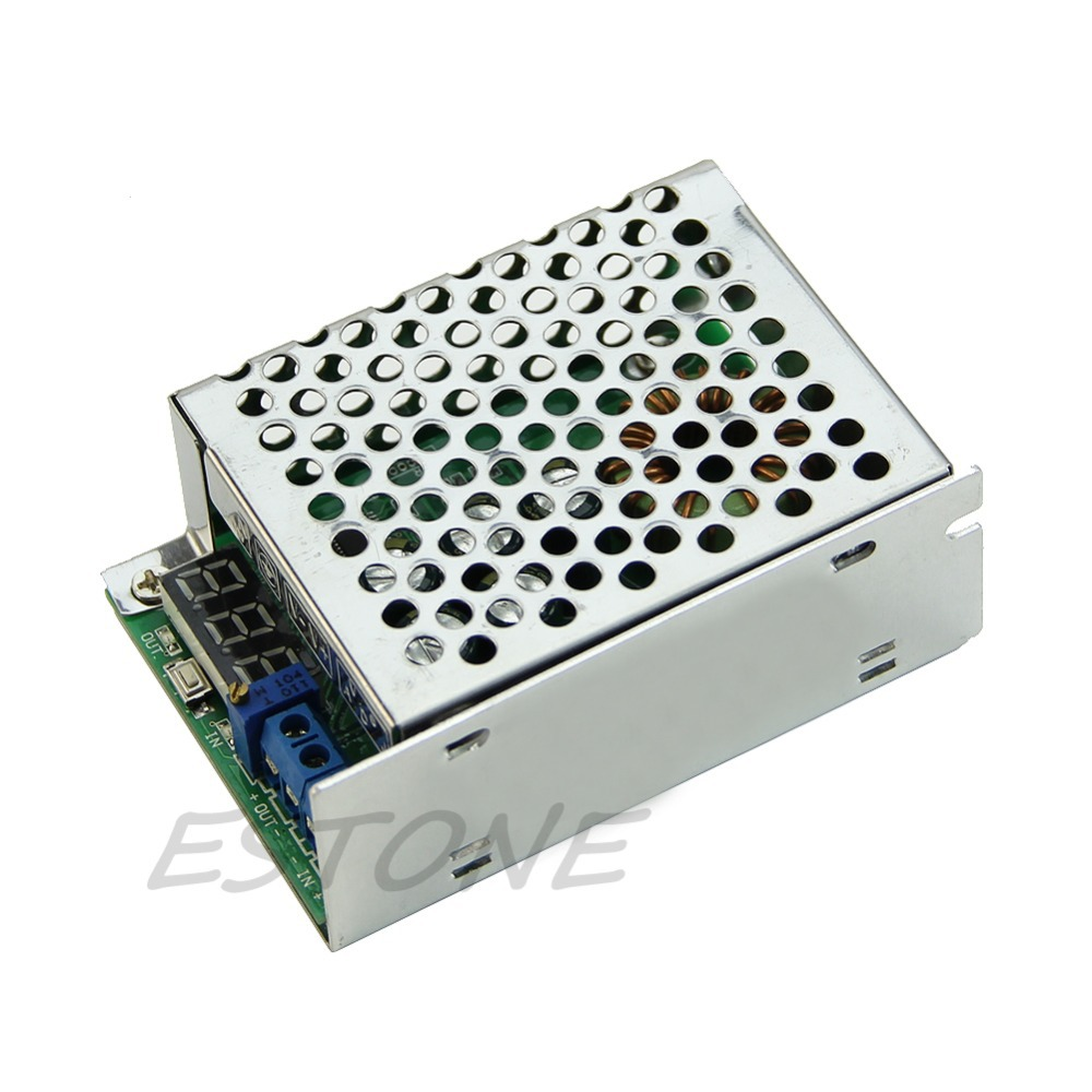 DC-DC 3.5-30V to 0.8-29V 10A Step Down Power Supply Converter With Metal Case W329