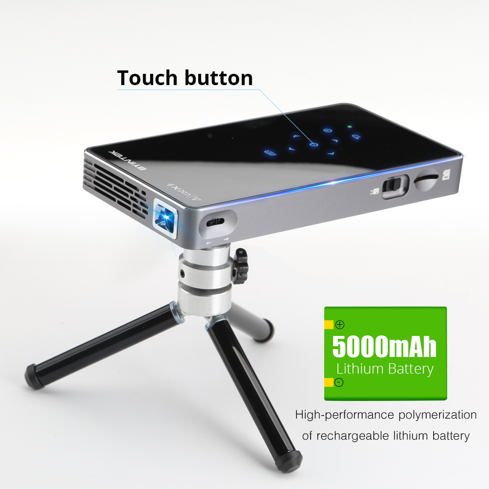 BYINTEK UFO P9 (P8I) Android 7.1 OS Pico poche HD Portable Micro WIFI Bluetooth Mini LED projecteur DLP avec batterie - 4