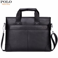 VICUNA POLO Promotion High Quality PU Leather Brand Briefcase Classic Simple Design Business Leather Man Bag