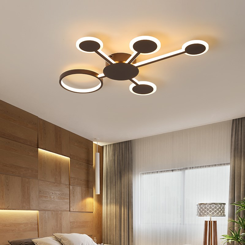 Surface mounted modern led ceiling lights for living room Bed room light coffee color plafondlamp home lighting led Ceiling LampSurface mounted modern led ceiling lights for living room Bed room light coffee color plafondlamp home lighting led Ceiling Lamp
