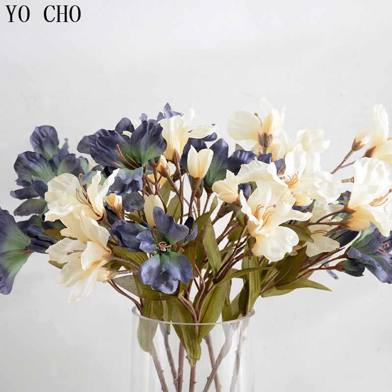 Йо Чо 5 шт./лот Калла Лили искусственные цветы из шелка искусственные букет поддельные цветы для дома Свадебные Декоративные Цветы Листья
