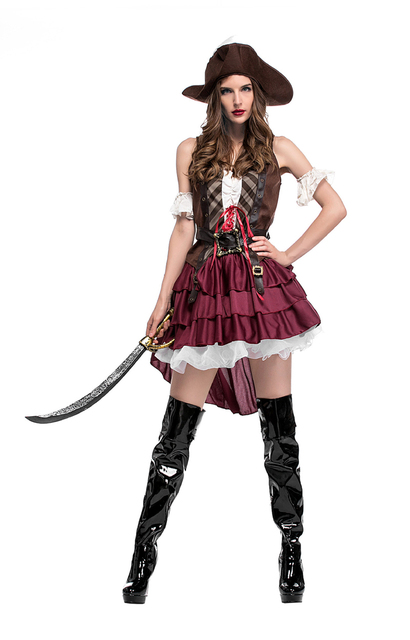 3fe885fa2 Fantasias Femininas Piratas Guerreiro Role Play Roupas Traje do Carnaval de  Halloween Do Partido Cosplay Fancy