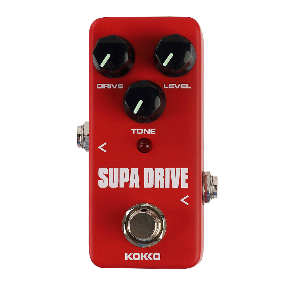 KOKKO FOD5 MINI Supa Drive Overdrive Electric Guitar Effects Pedal Guitar Effects Stompbox True Bypass aroma adr 3 dumbler amp simulator guitar effect pedal mini single pedals with true bypass aluminium alloy guitar accessories