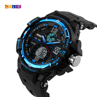 SKMEI 1148 Hot Sale Men Sports Watches Dual Time Fashion Watch Digital Double Time Back Light Chronograph Waterproof Alarm