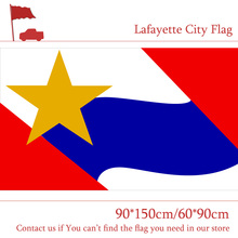 Free shipping 3x5ft Lafayette City Flag USA Indiana State 90*150cm 60*90cm High-quality 100d Polyester Banner For Vote цена и фото
